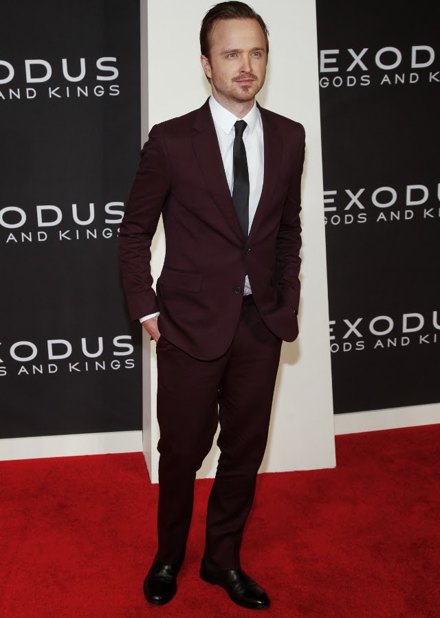 Aaron Paul en el estreno de Exodus
