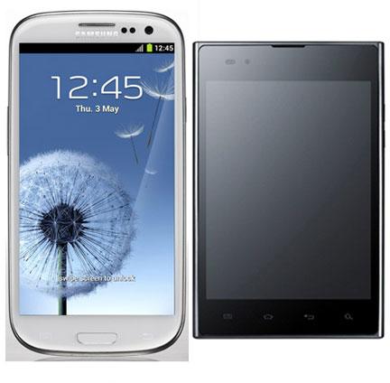 Samsung Galaxy S3 và LG Optimus