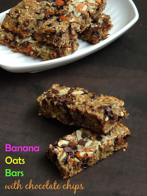 Banana Oats Bars, Healthy bars