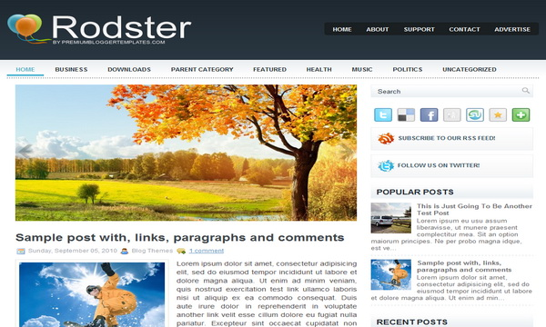 Rodster 2 Column Blogger Template