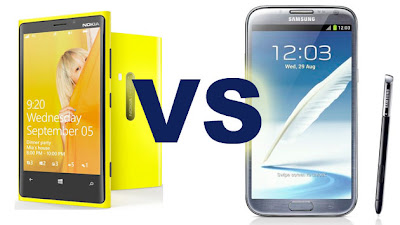 Lumia 920 vs Samsung Galaxy Note 2