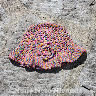 "alt=""Blooming Flower, crochet sun hat, granny summer hat, chapéu para o sol em crochet"""