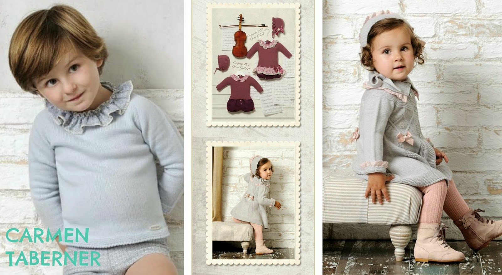 ropa de punto para bebes de Carmen Taberner