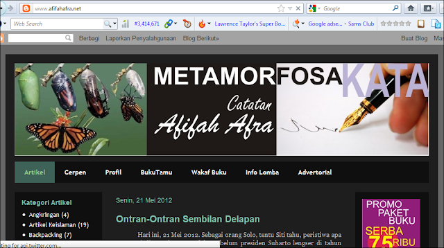 Official Website Afifah Afra.NET