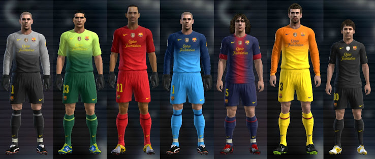 PES 2012 Barcelona 12 13 Kit Set by Cuky
