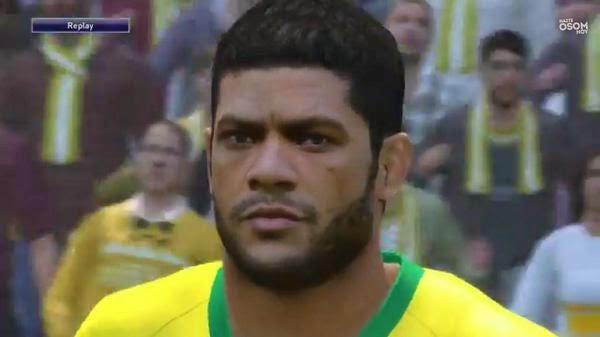Faces jogadores brasileiros: Face Hulk PES 2015