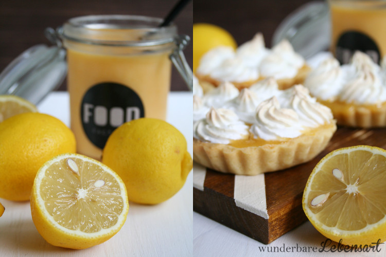 Zitronentörtchen mit Baiser oder auch Tartelette au Citron Meringueé