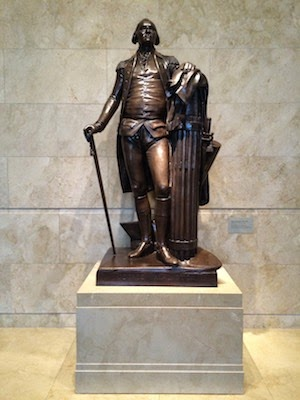 Chuck and Lori's Travel Blog - Statue of Washington at Mt Vernon