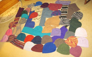 hats and scarves for homeless