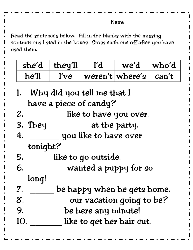 worksheet Contraction Worksheets For First Grade contraction worksheets for 1st grade abitlikethis free teaching contractions this week we will be working on words i just uploaded an