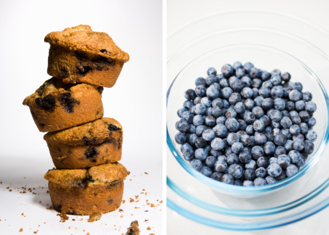SHORTBREAD: Whole Wheat or Gluten Free Healthy Corn-Blueberry Muffins