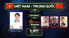 Giao hữu Việt - Trung, VaneLove đơn thân chiến Trung Quốc