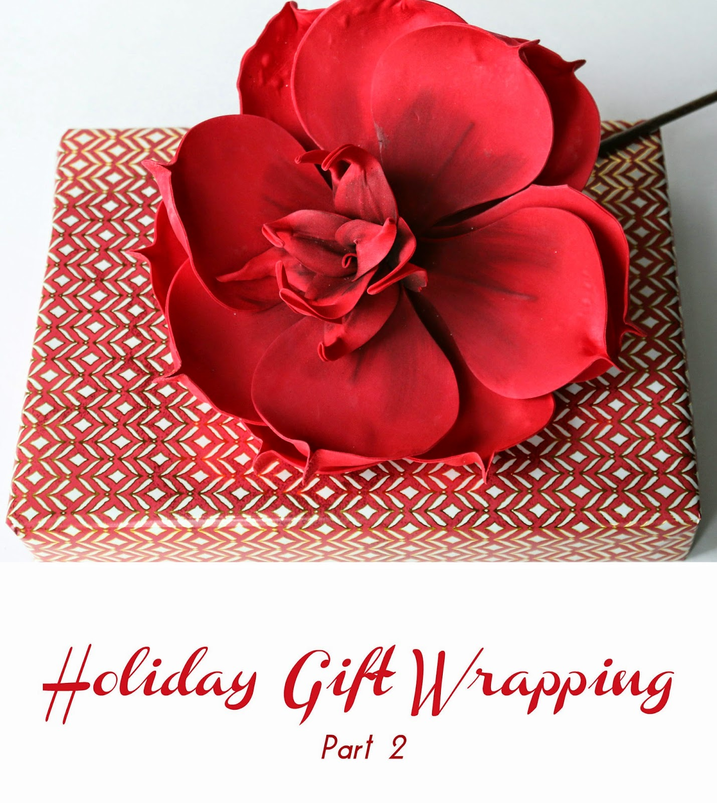 Holiday Gift Wrapping with Flowers