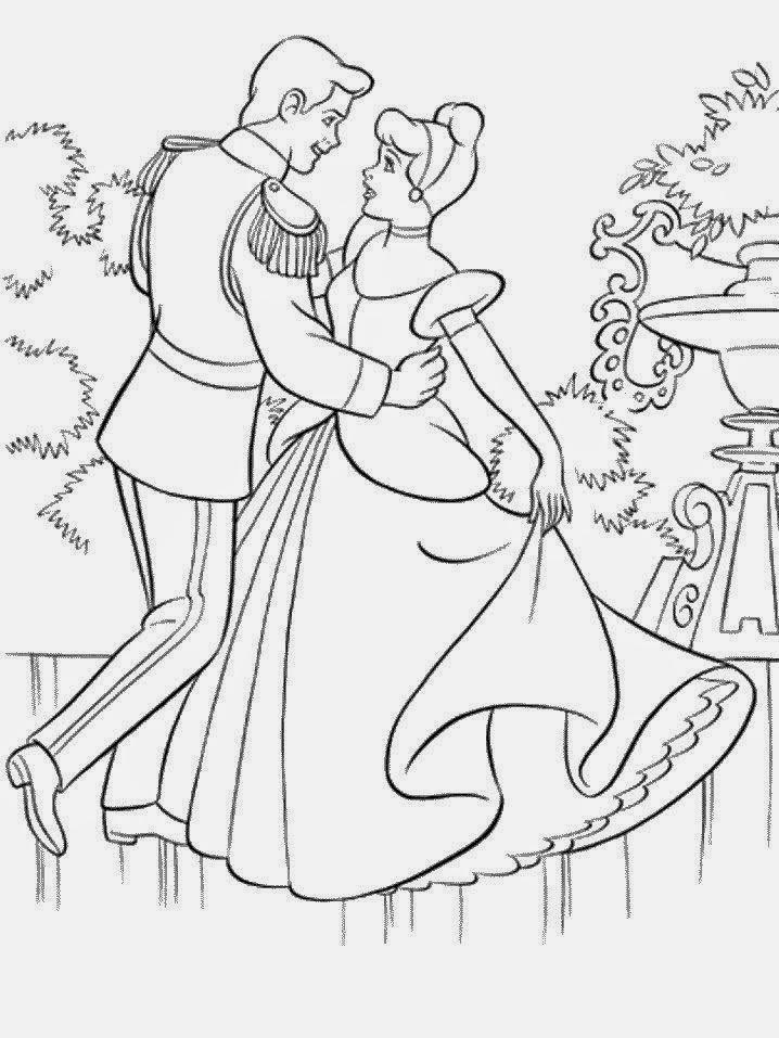 imagens para colorir da cinderela - Cinderela para colorir Desenhos para Colorir