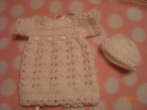 Angel Dress and Hat for Preemies 1/2/12