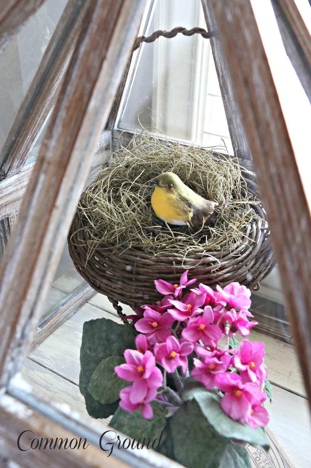 Common Ground Spring Vignette-Treasure Hunt Thursday- From My Front Porch To Yours