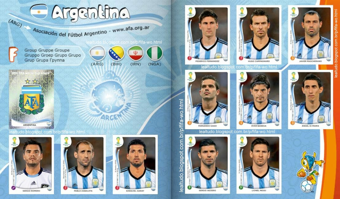 Album ARGENTINA Fifa World Cup BRAZIL 2014 LIVE COPA DO MUNDO Sticker Figurinha Download Lealtudo