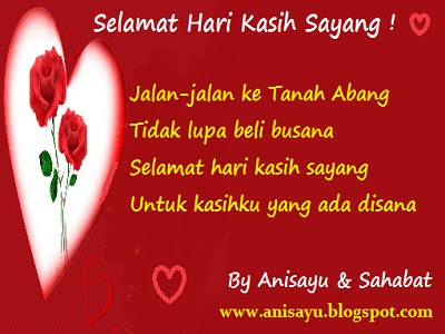 ... SMS Puisi Pantun Selamat Hari Valentine Atau Kasih Sayang Romantis