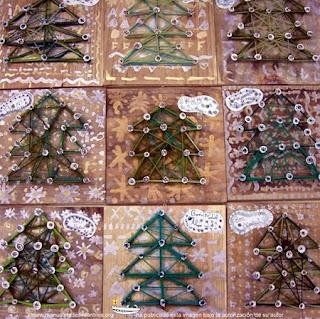 Arboles de Navidad con Lana Reutilizada, II Parte