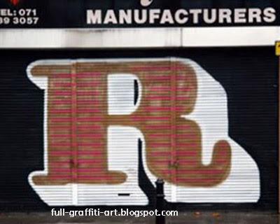 graffiti Alphabet letter R