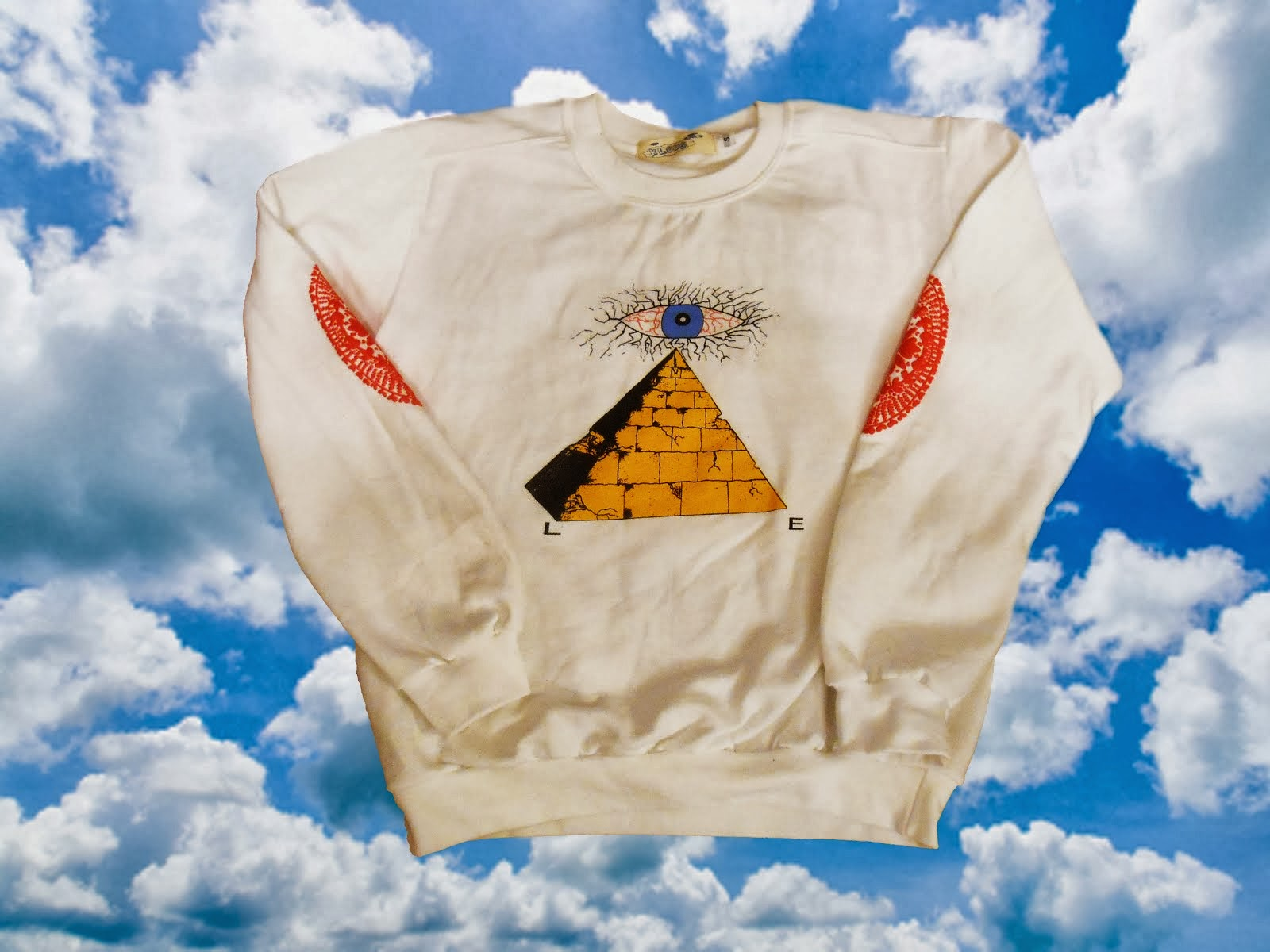 White All-Seeing Lie Crewneck