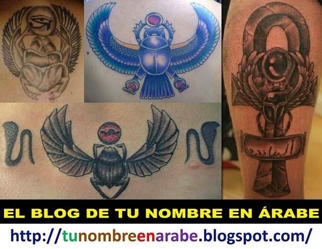 escarabajo egipcio Tatuajes para mujeres