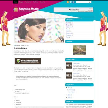 ShoppingMania blogger template. template blogspot magazine style. shopping blogger template