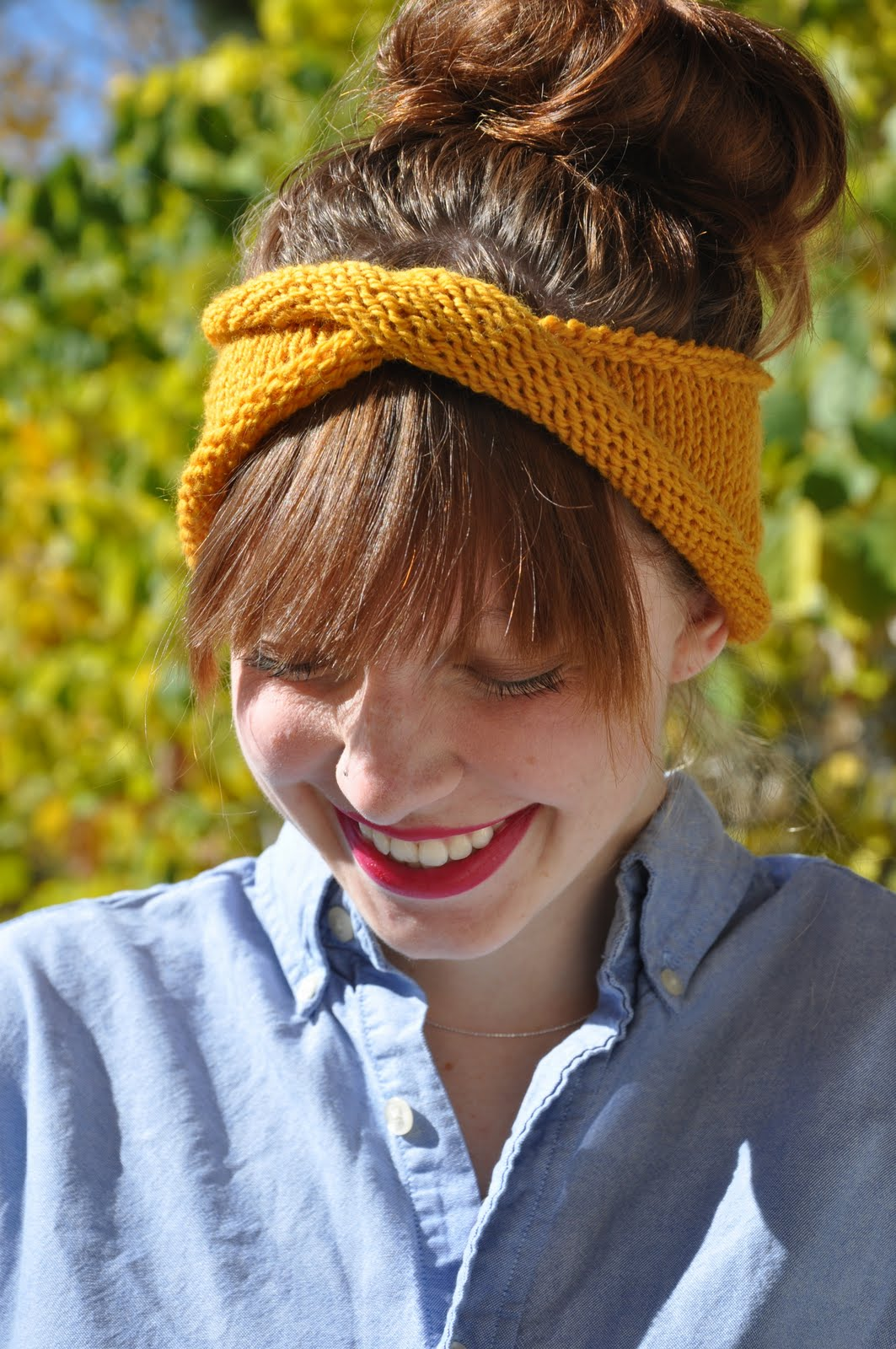 Simple Knit Headband Pattern : Sans Limites Crochet: The Twisty Rolly Headband