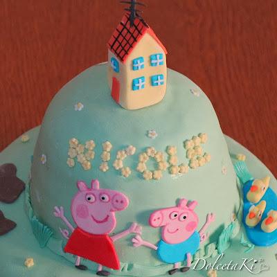 torta peppa pig casa