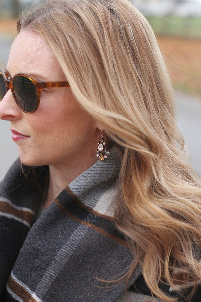 chicwish coat, jcrew earrings