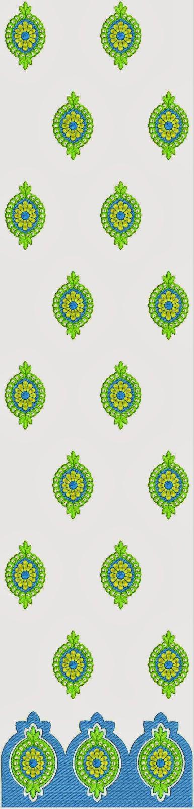 batik blomme ontwerp Kurti rok
