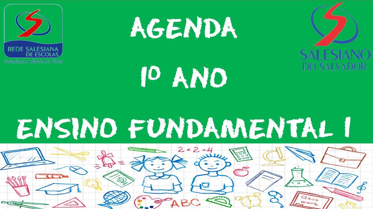 AGENDA 1º ANO ENSINO FUNDAMENTAL 1