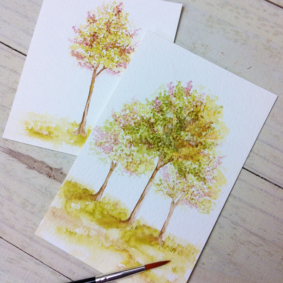 Stamp away with me tips tricks watercolor trees for Watercolour tips and tricks