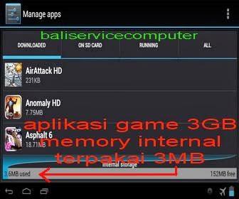 tidak bisa download aplikasi memory penuh