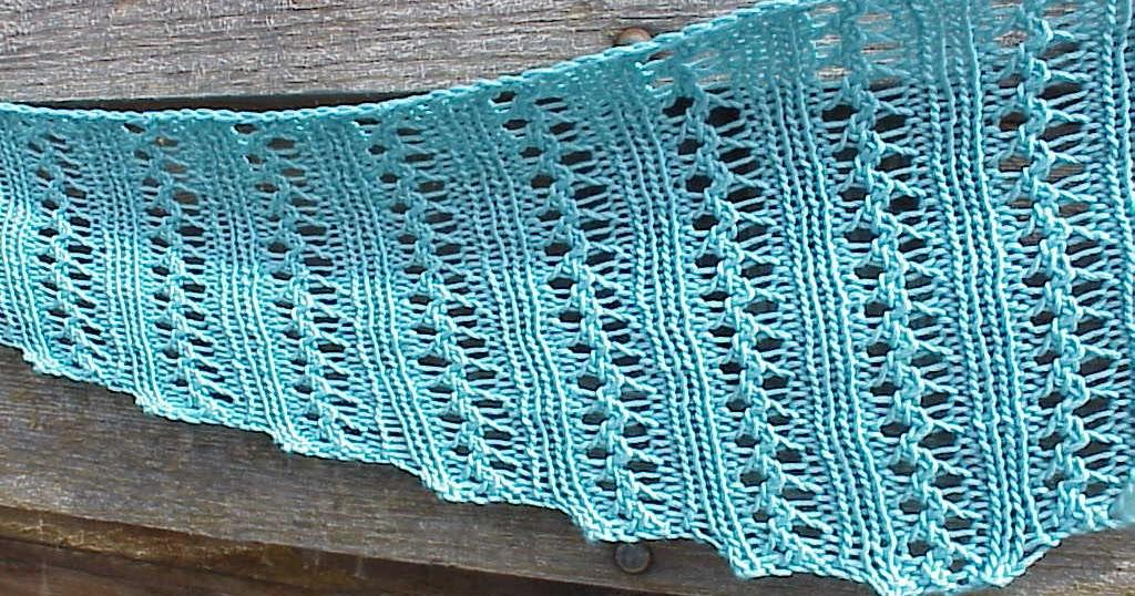 Knitting Abbreviations Yo : Kriskrafter free knitting pattern wiggle lace scarf