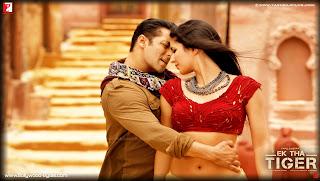 Katrina Kaif and Salman Khan Dancing Romancing HD Wallpaper from Ek Tha Tiger