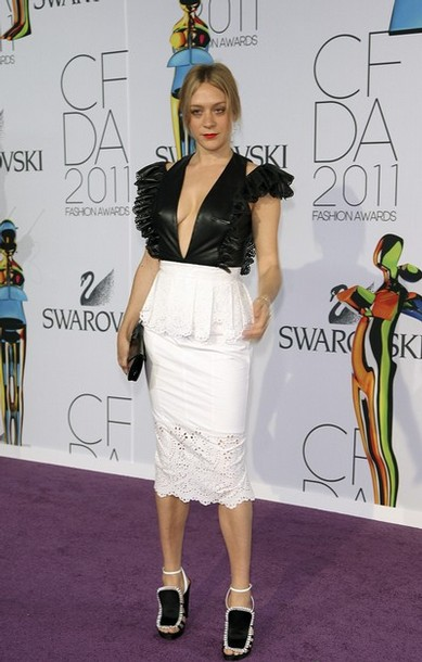 lady gaga 2011 cfda fashion awards. Actress Chloe Sevigny arrives at the CFDA Fashion awards at the Lincoln