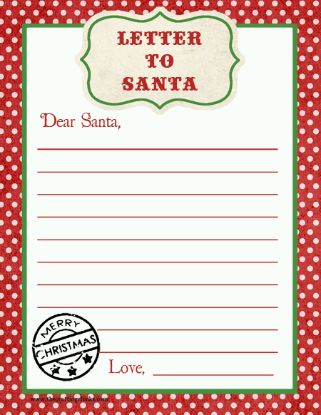 Dear Santa Letter Black And White Template | Search Results | Calendar ...