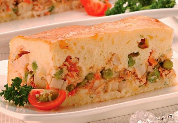 Torta de palmito com atum light