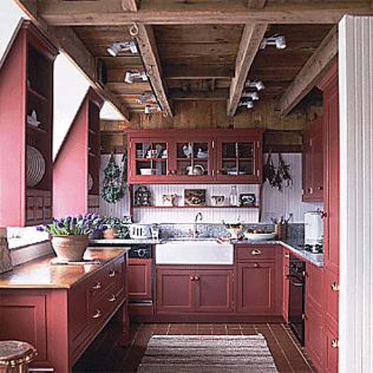 Barn kitchen ideas the kitchen design for Barn style kitchen cabinets