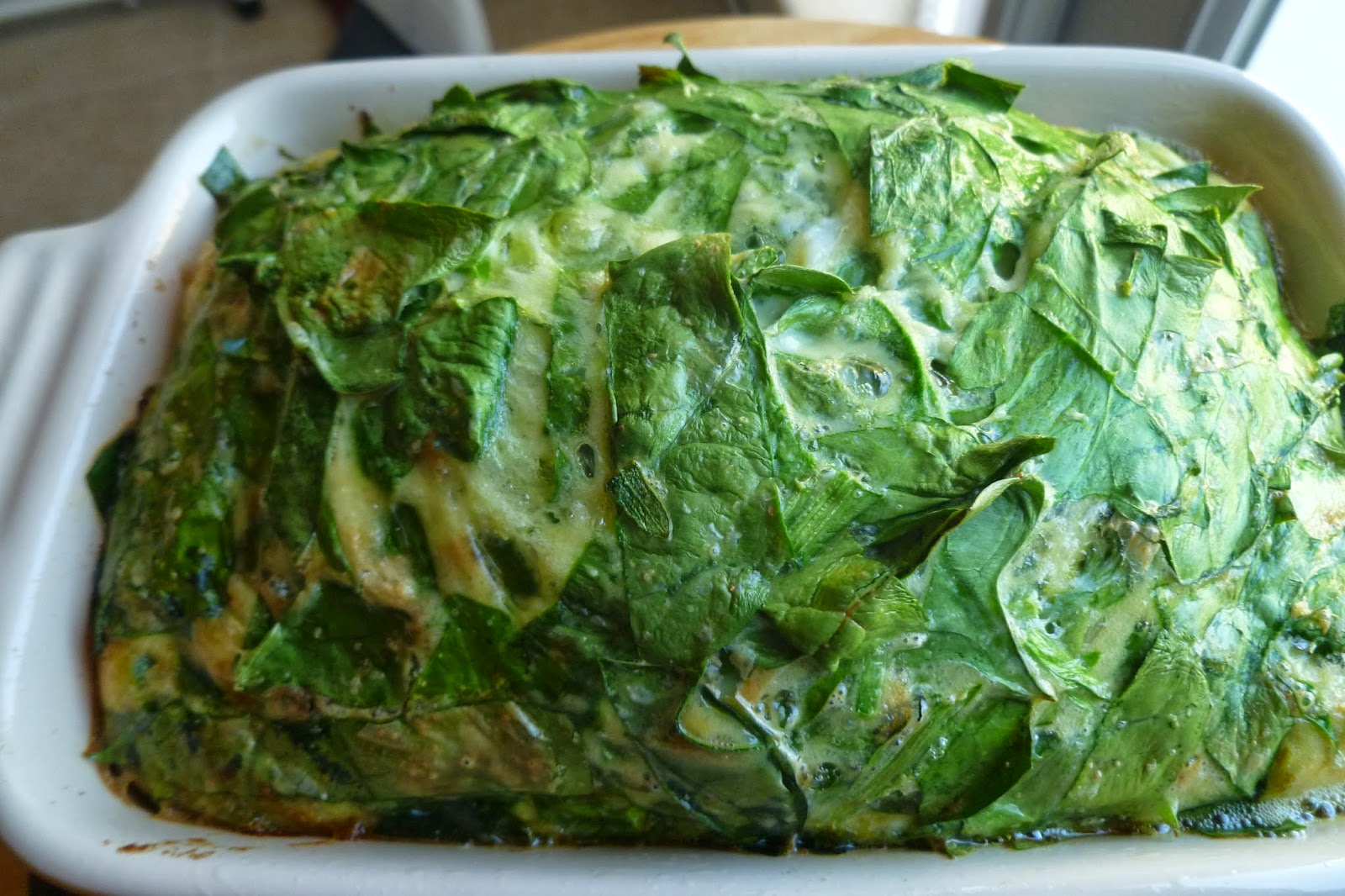 Spinach Quiche - made October 30, 2013 from Paleo Diet Lifestyle