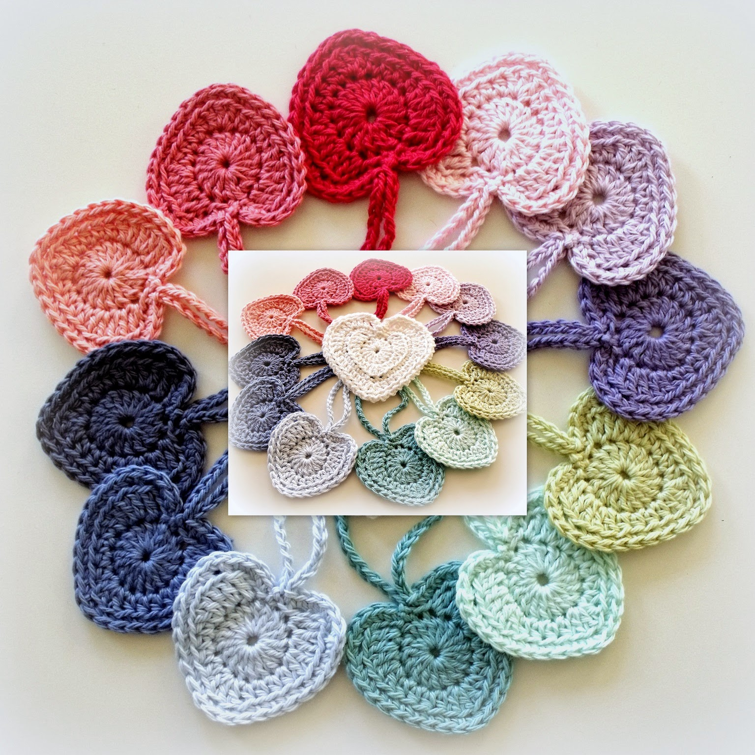 Perfect Hearts Crochet Motif