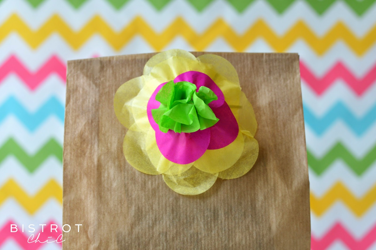 Drink Party Umbrellas used as gift embelishment by BistrotChic