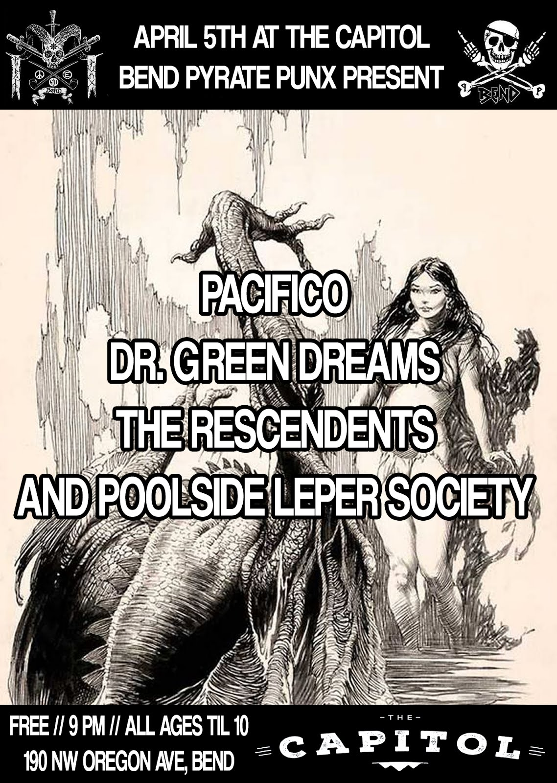 PACIFICO, DR. GREEN DREAMS, THE RESCENDENTS, AND POOLSIDE LEPER SOCIETY