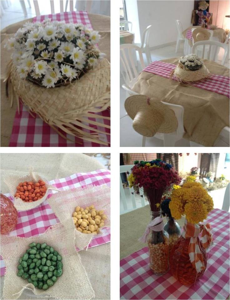 decoracao alternativa para festa junina:De repente, mãe de 2!: Centros de mesa e detalhes para festa junina