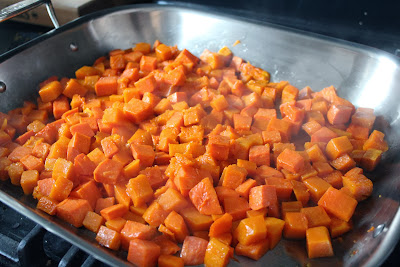Roasted butternut squash and yam