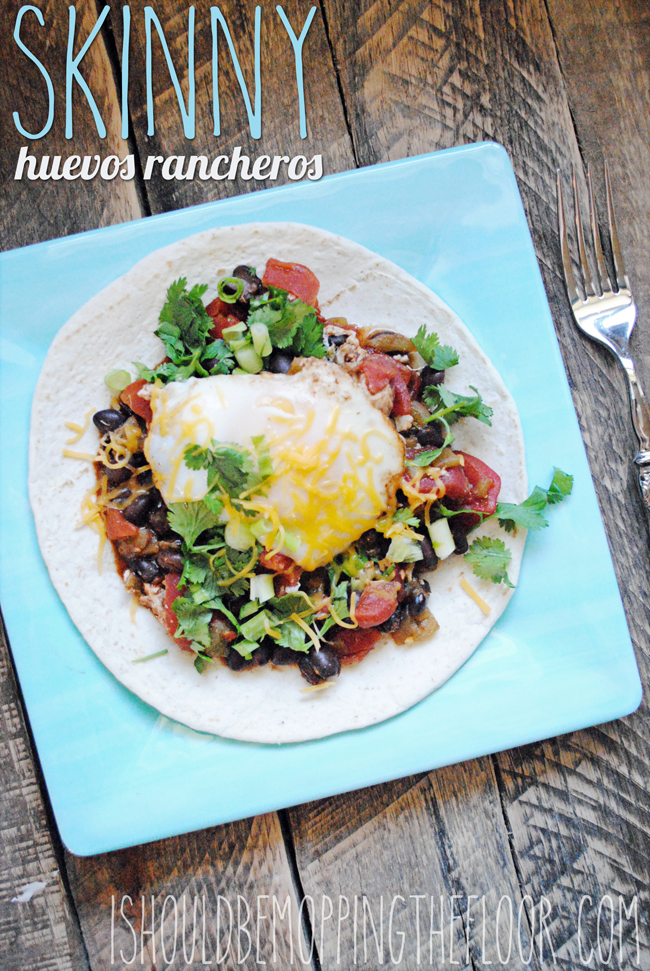 Skinny Huevos Rancheros: a lightened up version of the classic dish. Has 10 Weight Watchers Points Plus per serving.
