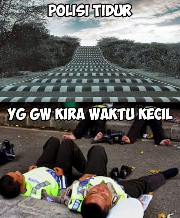 Polisi tidur lucu banget