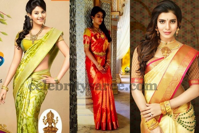 Top Actresses in Uppada Sarees