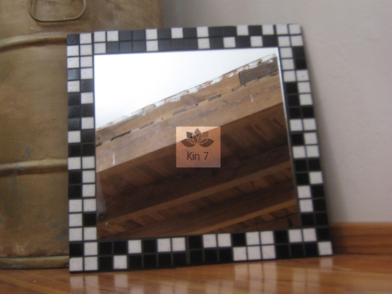 Kin 7 Deco Espejo Blanco Y Negro - Espejo Marco Negro | espejo ...
